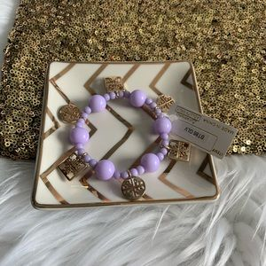 NEW Purple charm bracelet